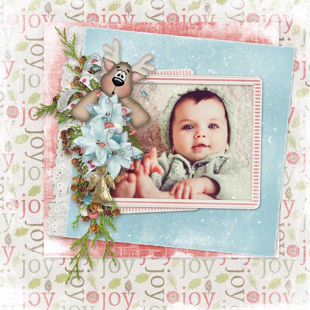 Linda Cumberland Layout using This is Me December by Snickerdoodle Designs