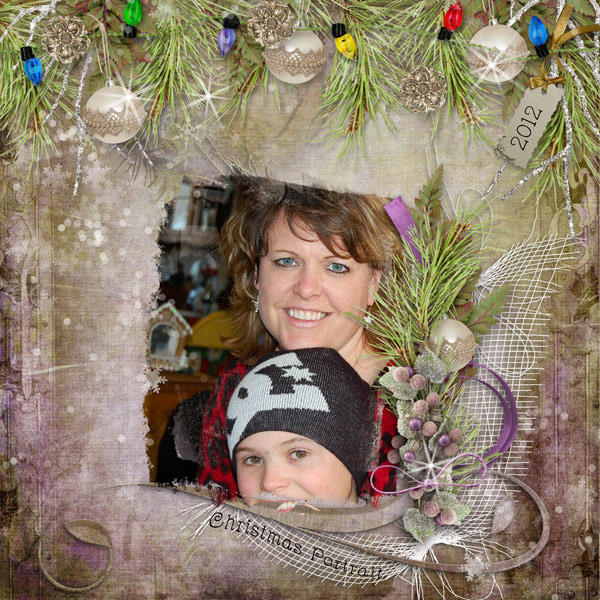 Snickerdoodle Designs Kit, Deck the Halls ,Layout by Norma