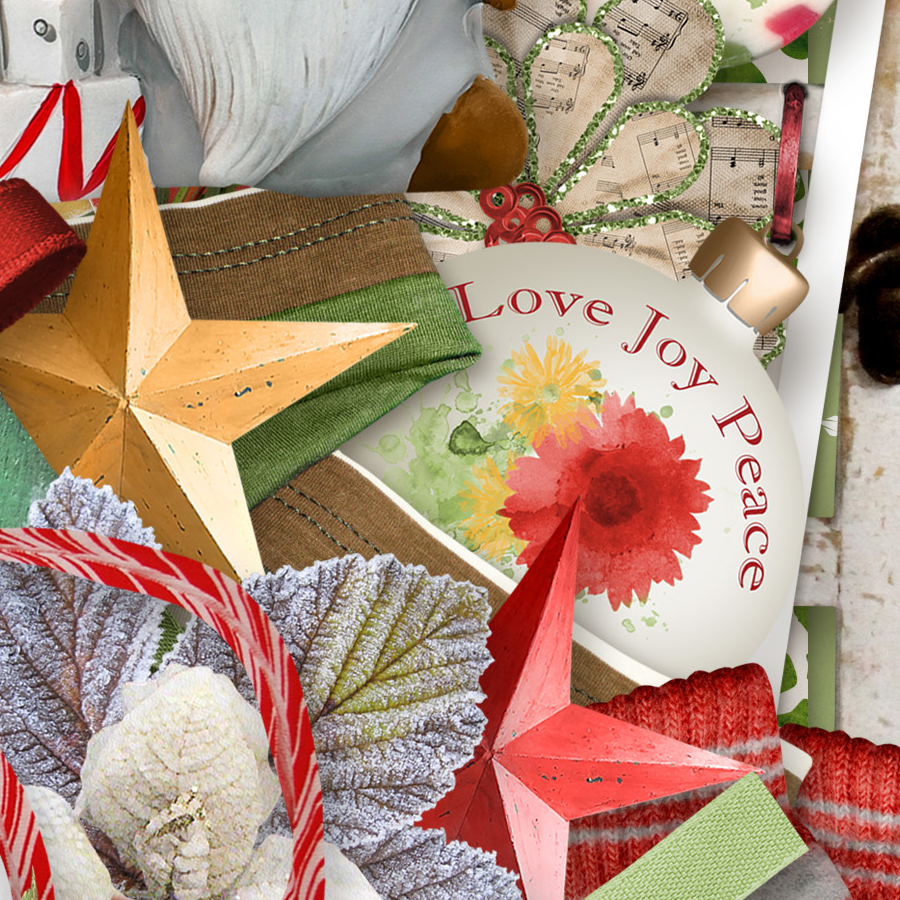 Sweet Christmas Kit Detail by Snickerdoodle Designs and Linda Cumberland Designs