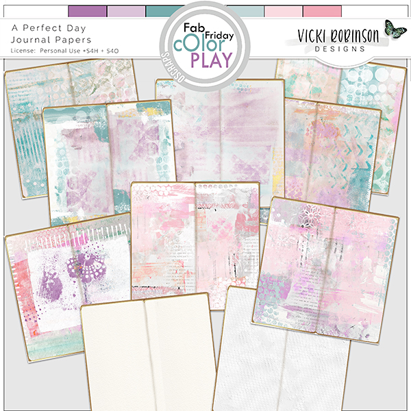 A Perfect Day Journal Papers by Vicki Robinson
