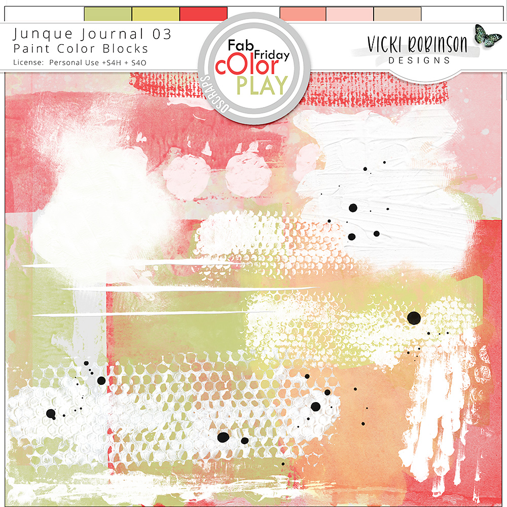 Junque Journal 03 Paint Blocks by Vicki Robinson Designs
