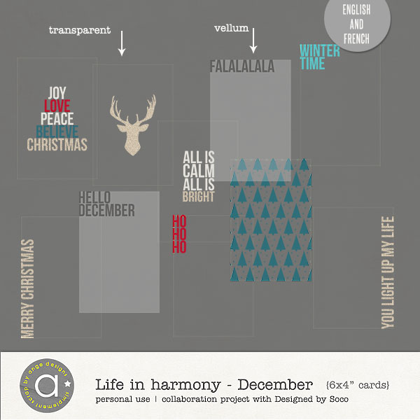 Life In Harmony - December {Invisible Masks}