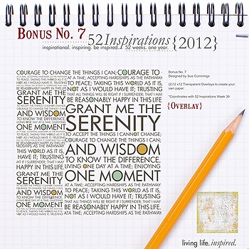 52 Inspirations :: 2012 Bonus No. 7