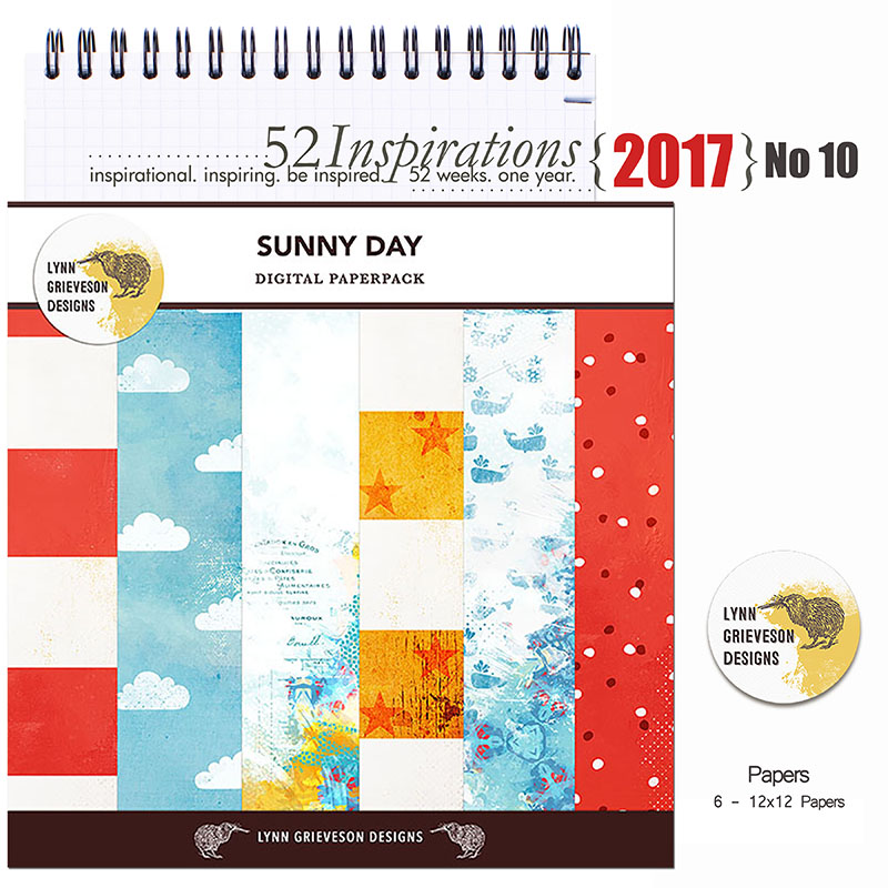 52 Inspirations 2017 - no 10 - Sunny Day Papers by Lynn Grieveson