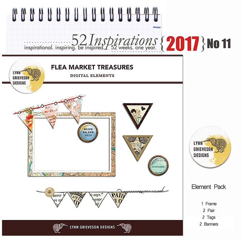 52 Inspirations 2017 - no 11 - Flea Market Treasures by Lynn Grieveson