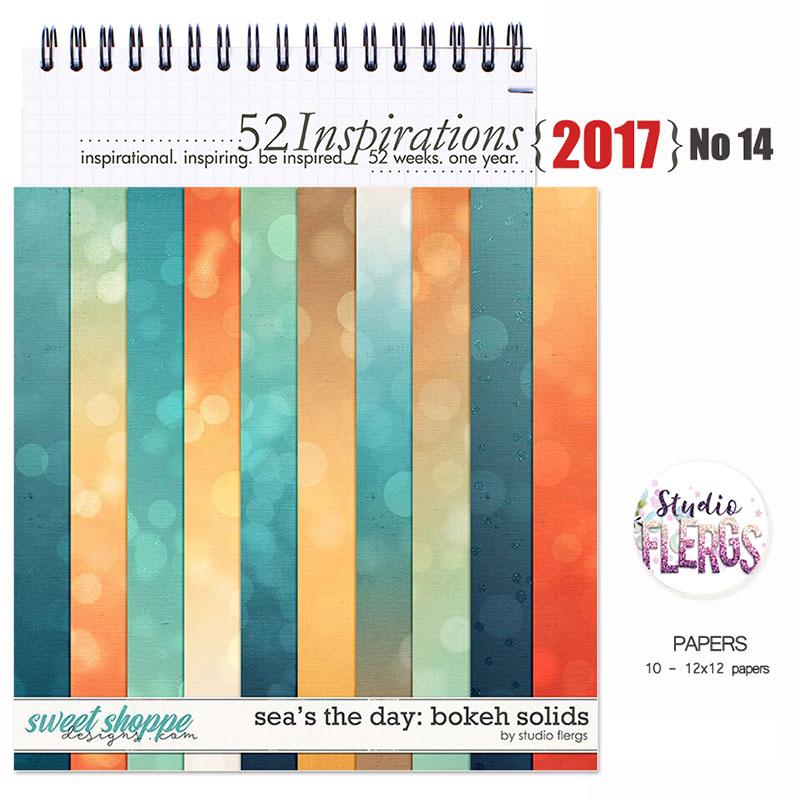 52 Inspirations 2017 - no 14 -  Sea's The Day Bokeh Solids by Studio Flergs