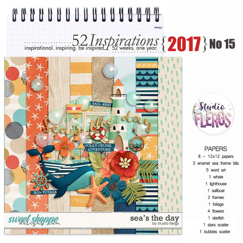52 Inspirations 2017 - no 15 -  Seas The Day Mini Kit by Studio Flergs