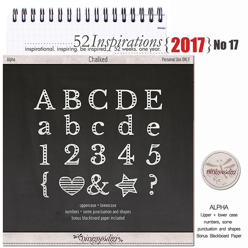 52 Inspirations 2017 - no 17 by ninigoesdigi - Chalked Alpha