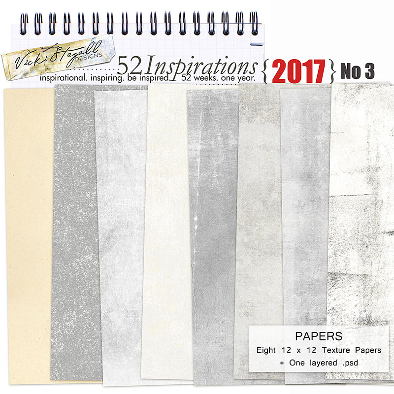 52 Inspirations 2017 - no 3 Texture Papers