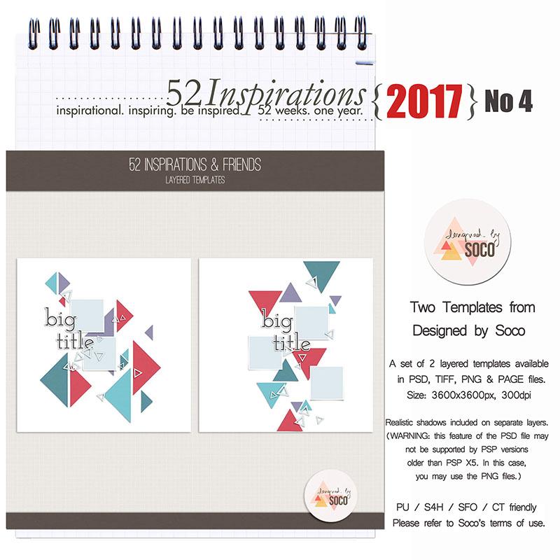 52 Inspirations 2017 - no 4 - Templates