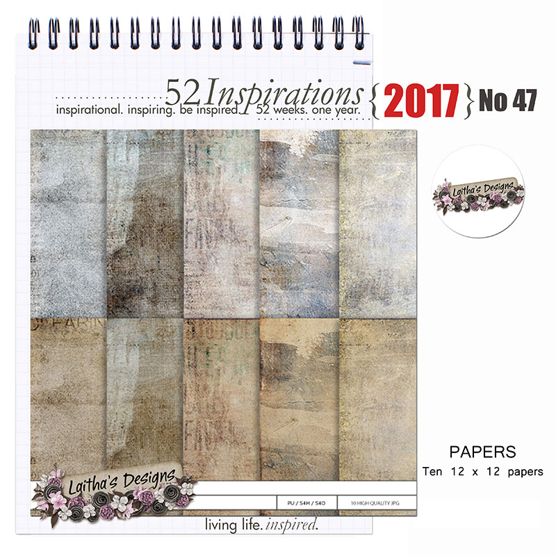 52 Inspirations 2017 no 47 Grunge Papers by Laitha