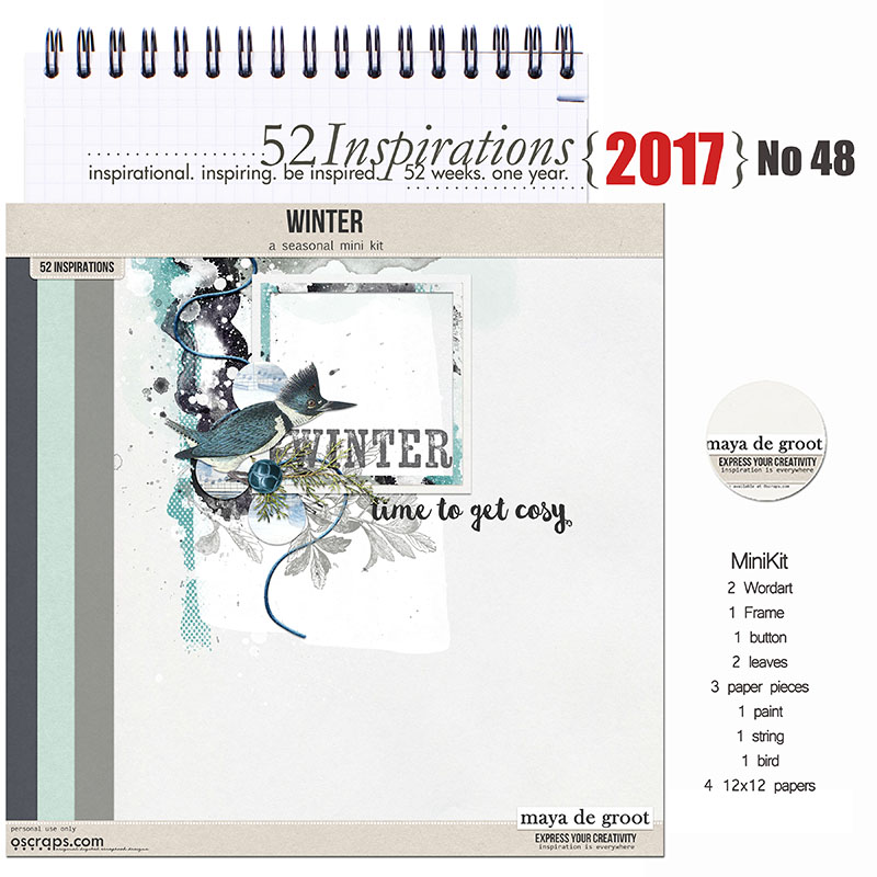52 Inspirations 2017 - no 48 - Winter by Maya de Groot