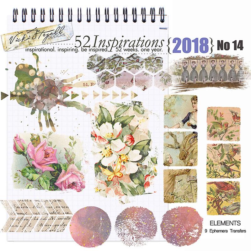 52 Inspirations 2018 - no 14 Transfers by Vicki Stegall