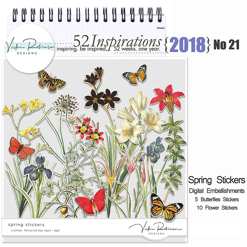 52 Inspirations 2018 -  no 21 Spring Stickers by Vicki Robinson