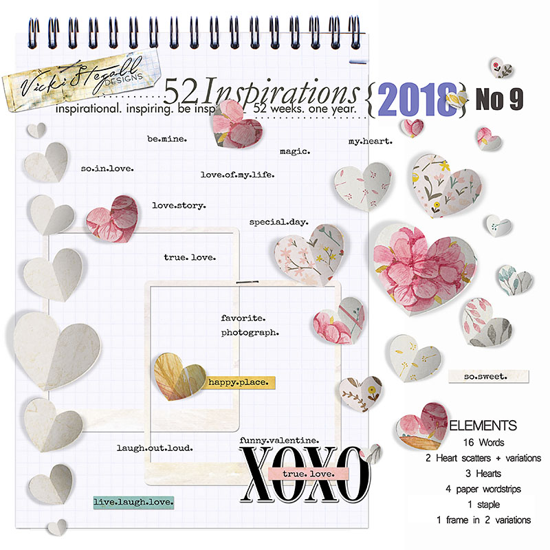 52 Inspirations 2018 - no 9 hearts