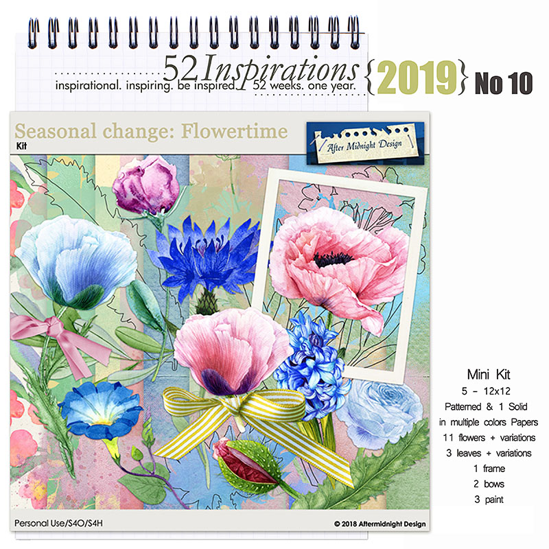 52 Inspirations 2019 -  No 10 Seasonal Change: Flowertime by Aftermidnight Design