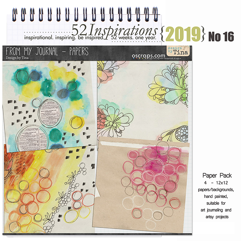 52 Inspirations 2019 -  No 16 From My Journal Papers by Design by Tina