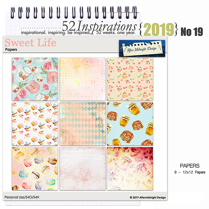 52 Inspirations 2019 -  No 19 Sweet Life Papers by Aftermidnight Design