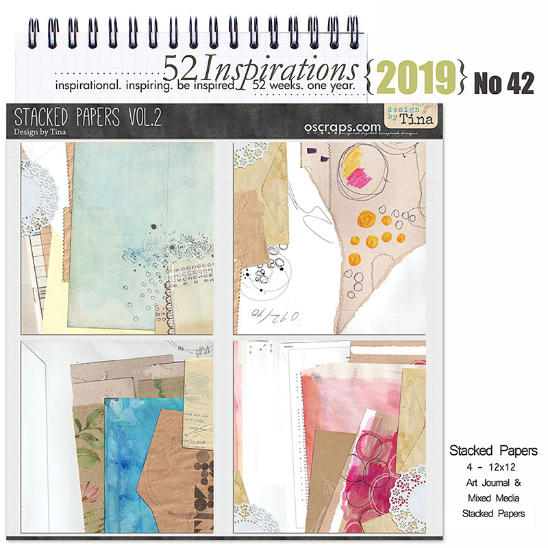 52 Inspirations 2019 No 42 Stacked Papers Vol 2 by Design by Tina