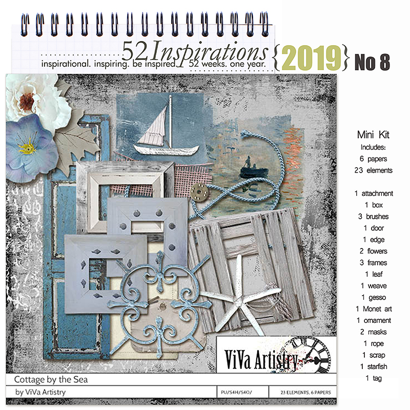 52 Inspirations 2019 -  No 8 Cottage by the Sea by ViVa Artistry