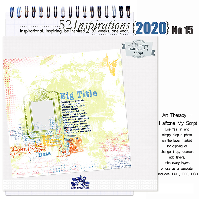 52 Inspirations 2020 -  No 15 Art Therapy by Blue Flower Art