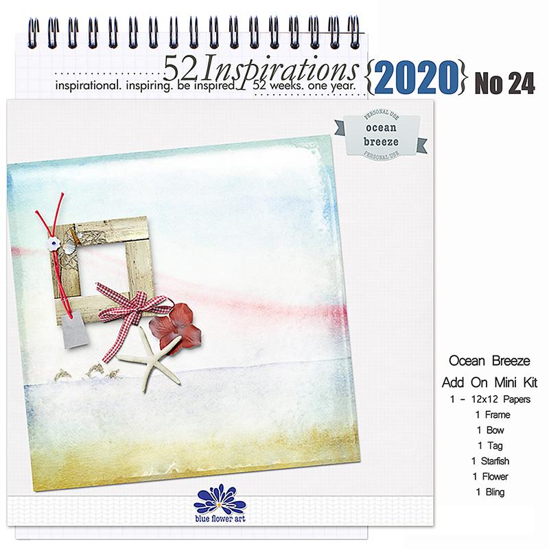 52 Inspirations 2020 No 24 Ocean Breeze by Blue Flower Art