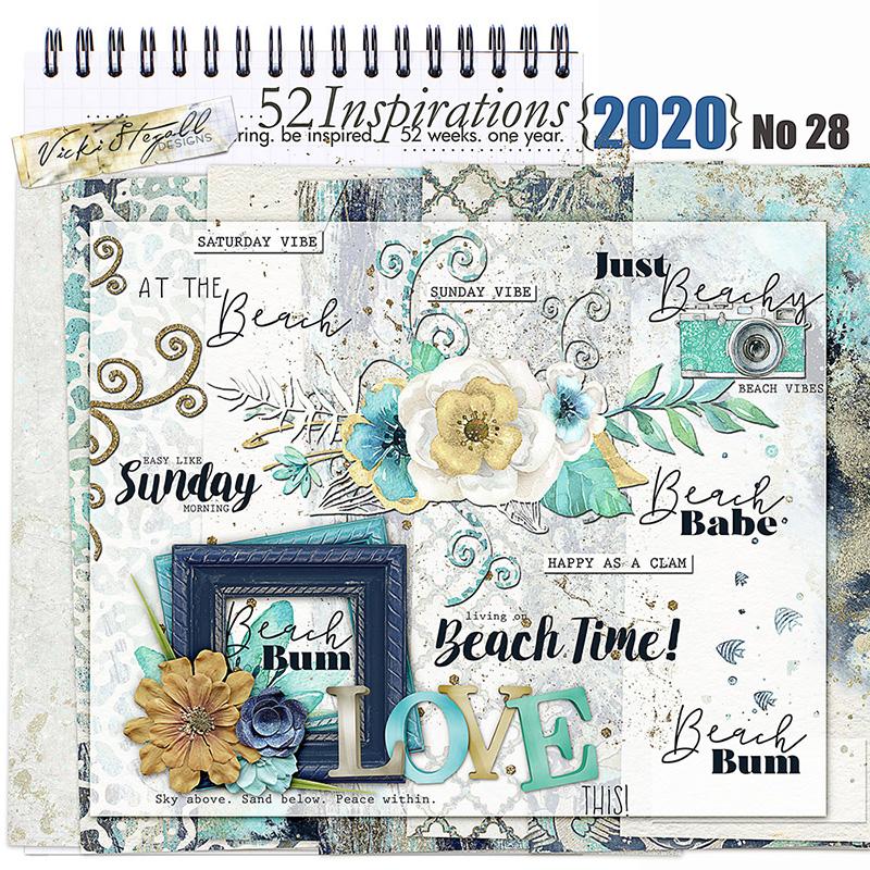 52 Inspirations 2020 No 28 Beach Vibes kit by Vicki Stegall