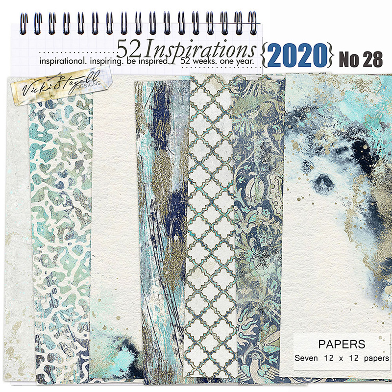 52 Inspirations 2020 No 28 Beach Vibes Papers by Vicki Stegall