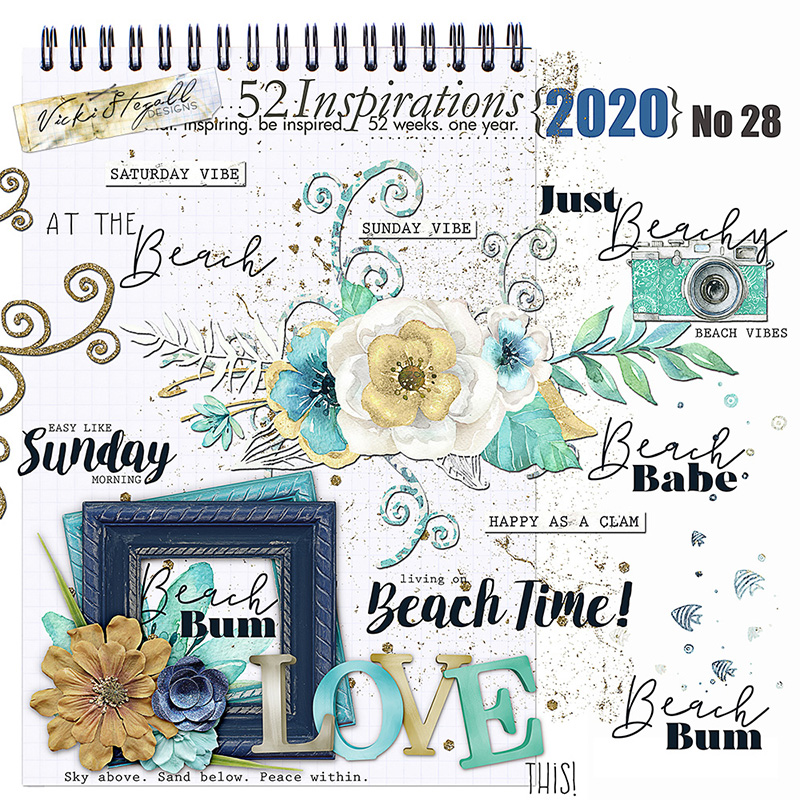 52 Inspirations 2020 No 28 Beach Vibes Elements by Vicki Stegall