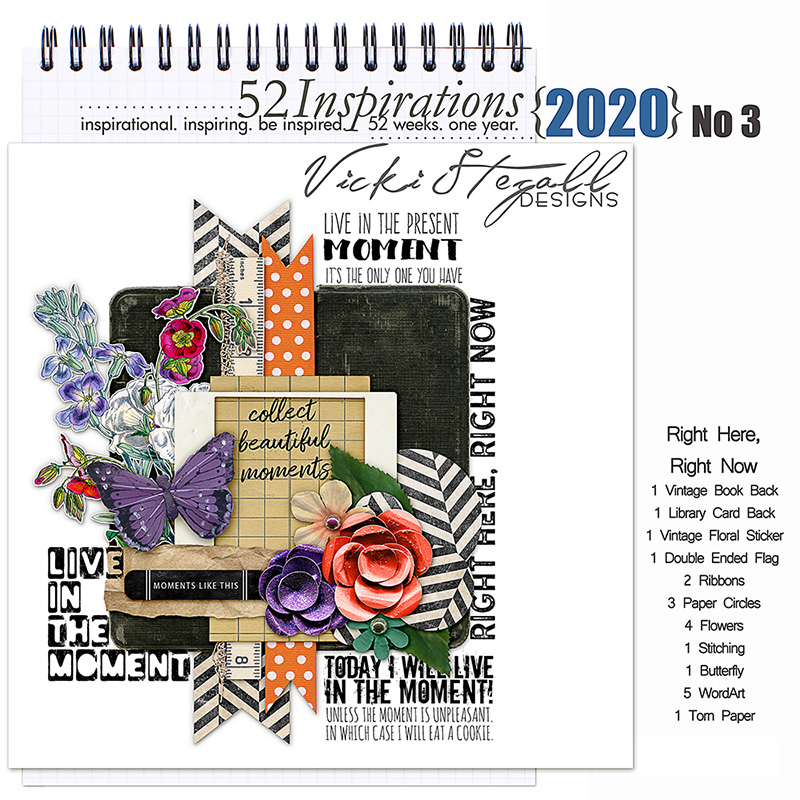 52 Inspirations 2020 -  No 3 Right Here Right Now by Vicki Stegall