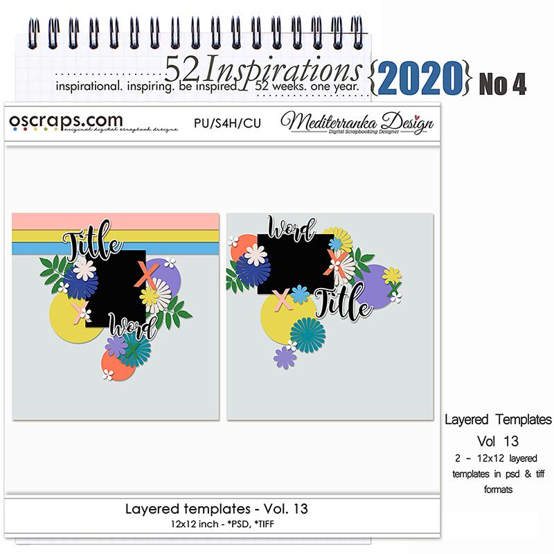52 Inspirations 2020 -  No 4 Templates by Mediterranka