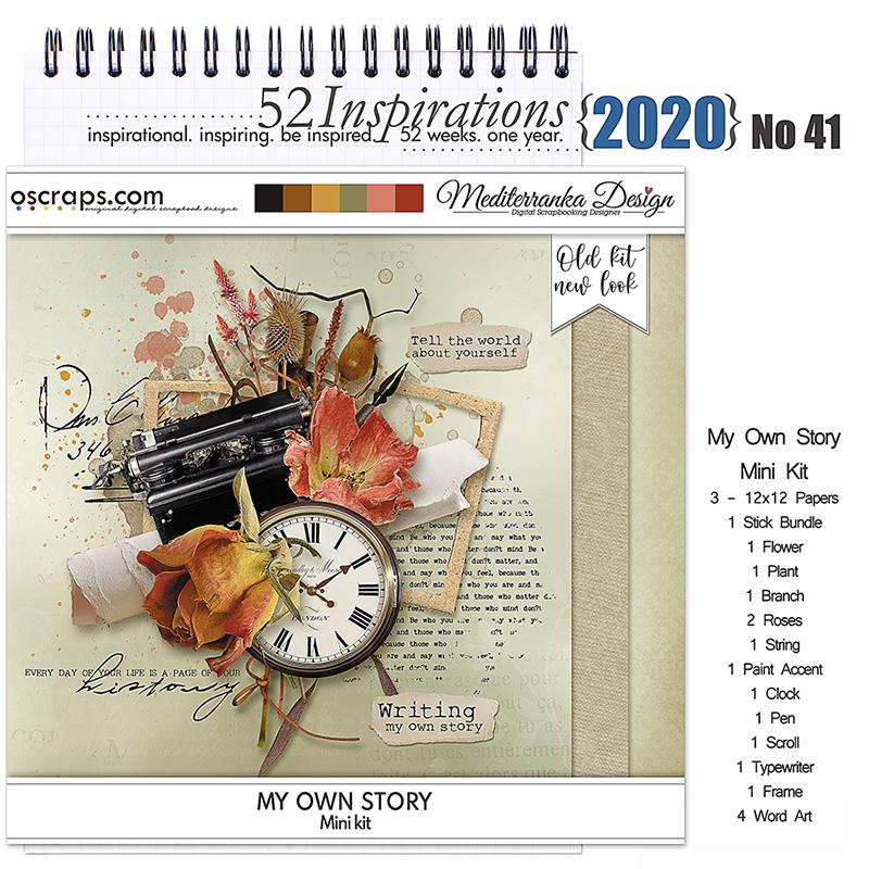 52 Inspirations 2020 No 41 My Own Story by Mediterranka