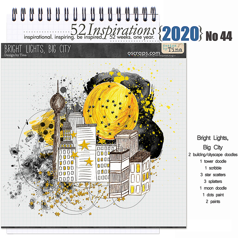 52 Inspirations 2020 No 44 Bright Lights, Big City Elements by Design by Tina