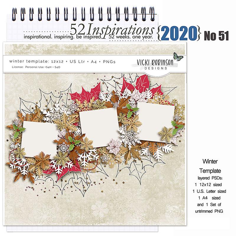 52 Inspirations 2020 no 51 Winter Tempate by Vicki Robinson