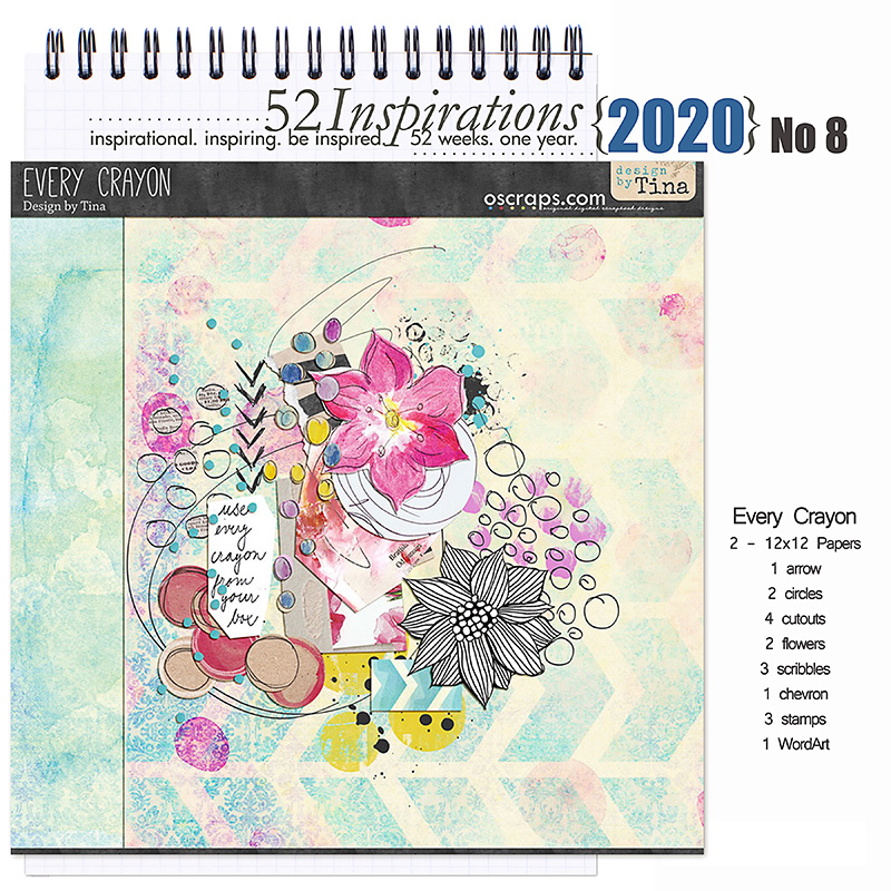 52 Inspirations 2020 No 08 Every Crayon Mini Kit by Design by Tina