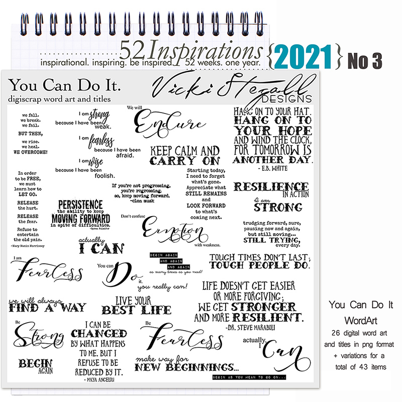 52 Inspirations 2021 No 03 You Can Do It Word Art by Vicki Stegall