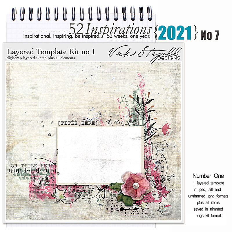 52 Inspirations 2021 No 07 Layered Template Page Kit 1