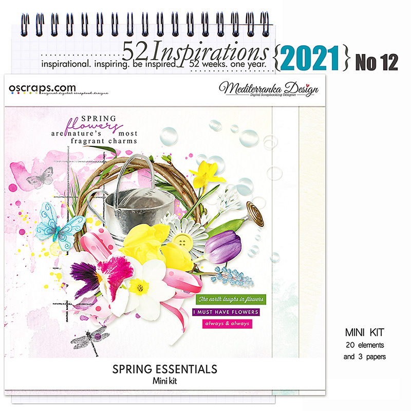 52 Inspirations 2021 No 12 Spring Essentials Mini Kit by Mediterranka