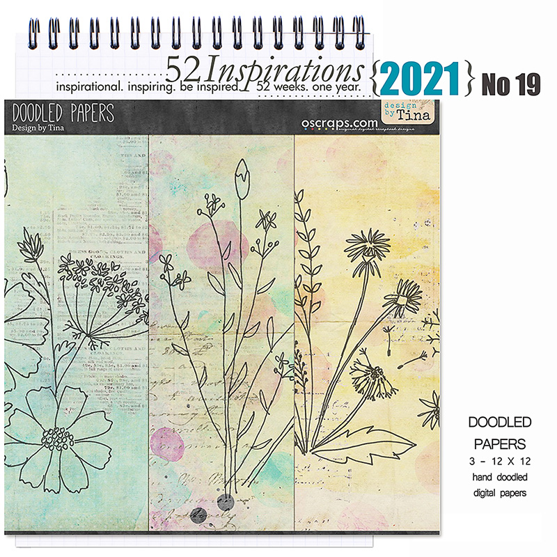 52 Inspirations 2021 No 19 Doodled Papers by Design by Tina