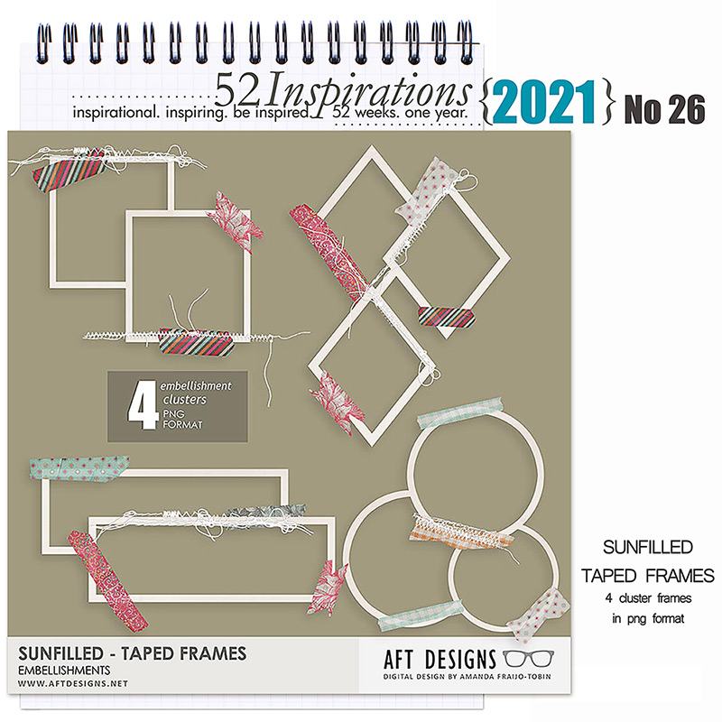 52 Inspirations 2021 No 26 Sun Filled Frame Embellishments by AFT Designs
