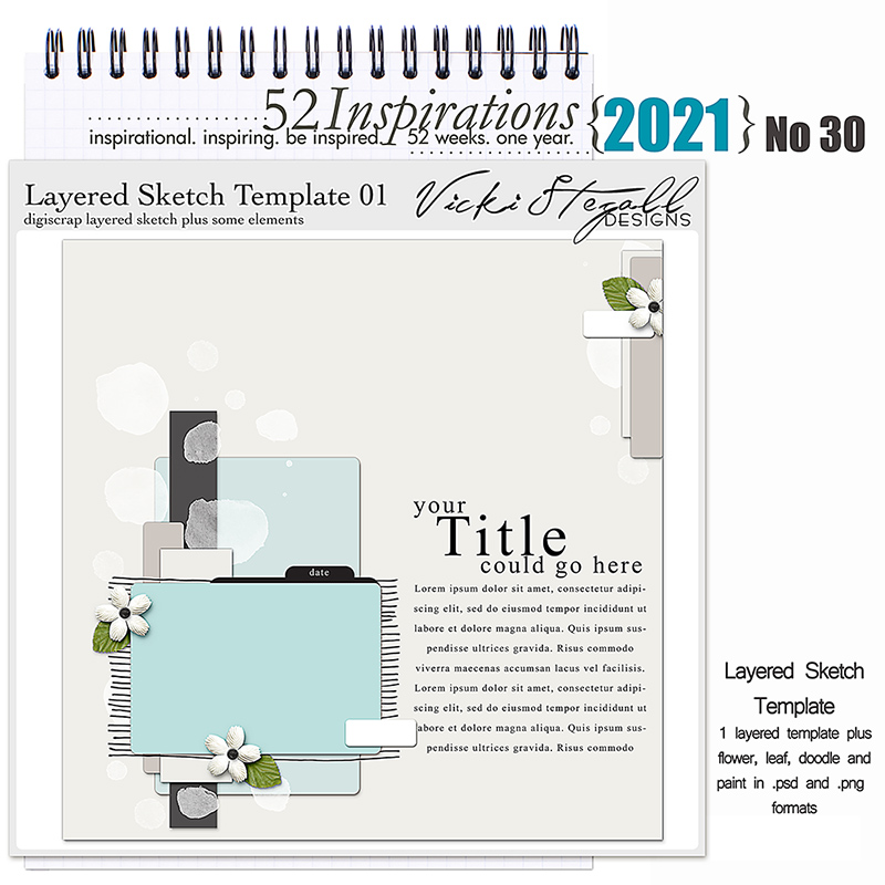 52 Inspirations 2021 No 30 Layered Template by Vicki Stegall