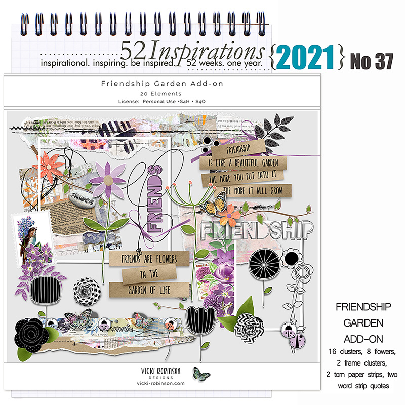 52 Inspirations 2021 No 37 Friendship Garden Add-on