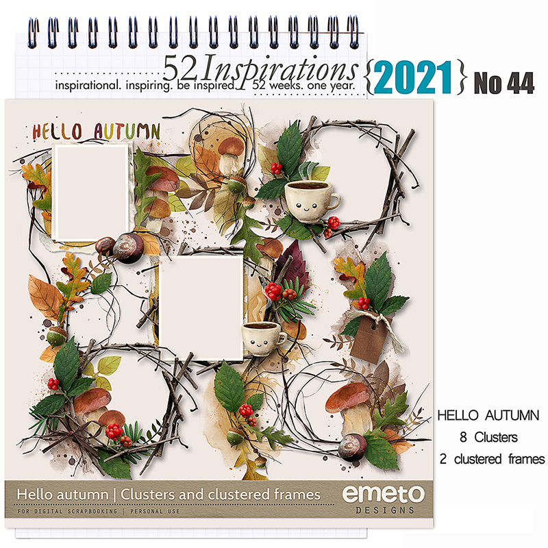 52 Inspirations 2021 Hello Autumn Clusters by emeto designs