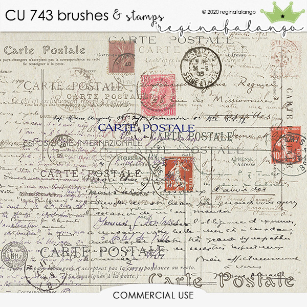 CU 743 BRUSHES & stamps