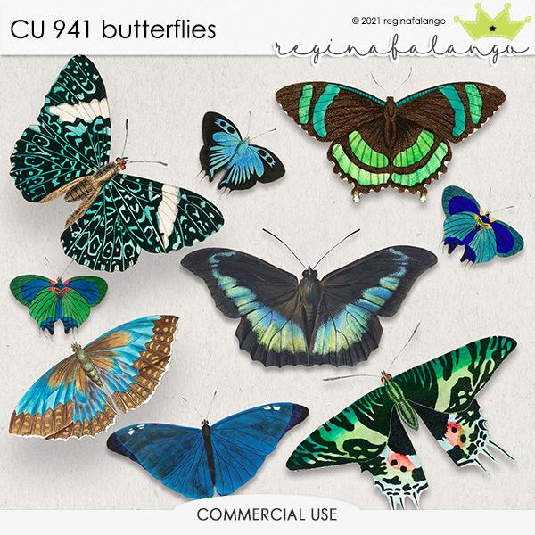 CU 941 BUTTERFLIES