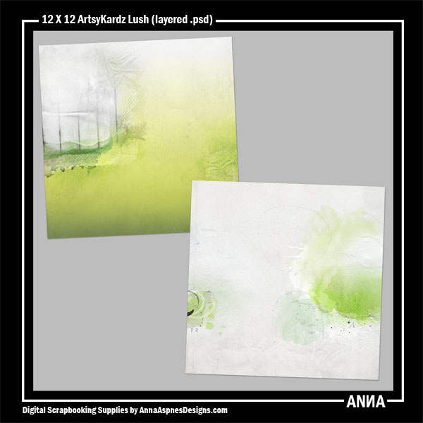 12 X 12 ArtsyKardz Lush