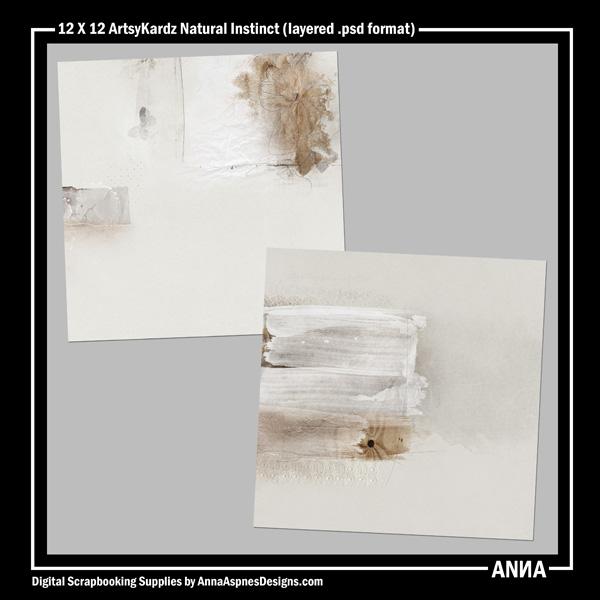 12 X 12 ArtsyKardz Natural Instinct