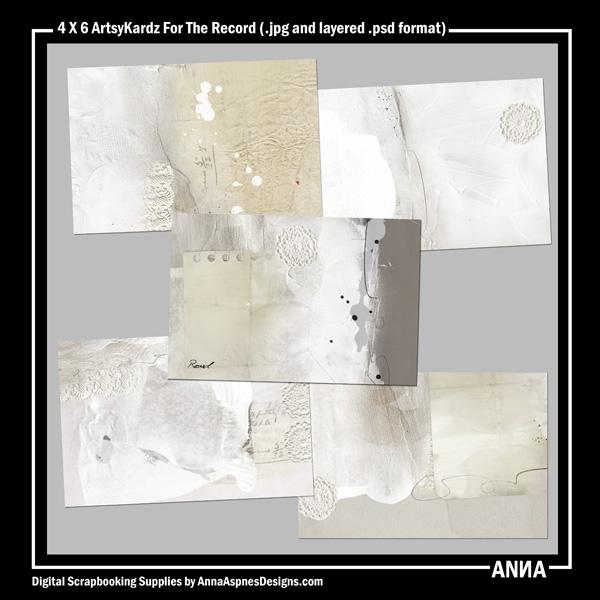 4 X 6 ArtsyKardz For The Record