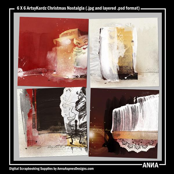 6 X 6 ArtsyKardz Christmas Nostalgia