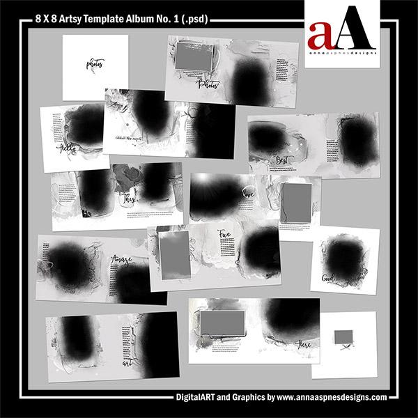 8 X 8 Artsy Template Album No. 1